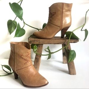 Town & Country Patina Boho Ankle Heel Boots 7 1/2B